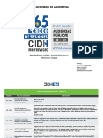 Calendario Audiencias Públicas de la CIDH en Montevideo