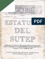 ESTATUTO SUTEP 1972