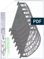 Planos de fabricacion de estructuras para un techo parabolico