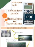 Apoyo de La Calculadora en La Resolucion de Ecuaciones