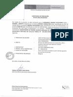 Constancia de Servicio CLS Peru Travel 2014
