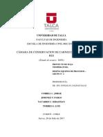 CÁMARA DE CONSERVACIÓN DE CARNES DE CERDO Y RES
