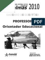 Dom Cintra 2010 Prefeitura de Palmas to Orientador Educacional Prova