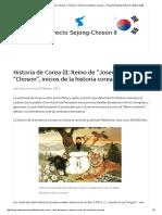 "Historia de Corea (I)_ Reino de ""Joseon"" o ""Choson"", Inicios de La Historia Coreana"
