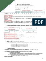 Resumo de Alguns Conteúdos de Matemática