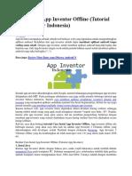 Cara Instal App Inventor Offline