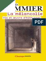La mélancolie - Gerard Pommier