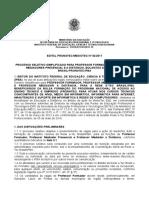 MEDIOTEC EAD Edital Professor Formador e Mediador PUBLICAO
