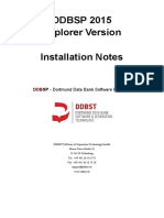 DDBSP 2015 Explorer Version - Installation Notes
