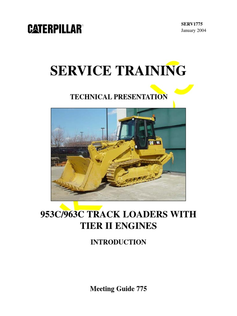 953C-963C-TRACK LOADERS CATERPILLAR pdf | Fuel Injection