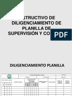 Instructivo de Diligenciamiento de Planilla de Supervisión