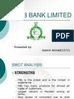 HBL Swot Analysis