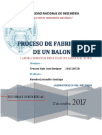 Informe Procesos de Manufactura