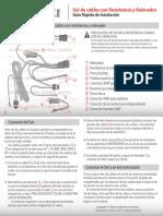 67358 Cables Con Resistencias y Relevador Para Xenon