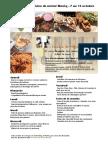 Menu de La Cuisine de Meme Moniq 7 Au 13 Octobre