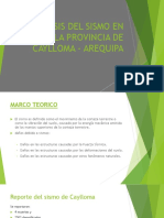 Analisis Del Sismo en La Provincia de Caylloma