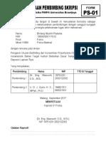 39891 Administrasi PS 01 Kesediaan Calon Dosen Pembimbing