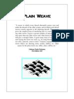Plain Weave Samples