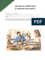 Specialistii Germani Au Stabilit Lista Celor 85 de Alimente Bune Pentru Organism