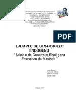 Ejemplo de Desarrollo Endógeno 2