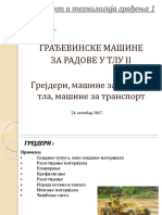 Predavanje 4 - Gradjevinske Masine Za Radove u Tlu II