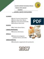 Maquinaria y equipo de productos lácteos
