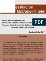 Ing Quimica - Metodo Mccabe Thiele