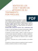 Componentes de Los Neumaticos y Negro de Humo Obtenido de Su Tratamiento Por Pirolisis.
