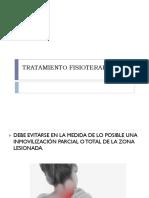 TRATAMIENTO FISIOTERAPEUTICO CERVICALGIA