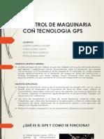 Control de Maquinaria Con Tecnologia Gps