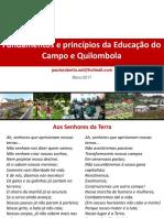 Fundamentos e Princípios Da Educação Do Campo e Em Comunidades Quilombolas