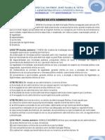 19 Exercicio de Administrativo - Extinção do Ato Administrativo