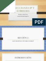 012 Presentación Caso de Estudio de Direcciones IPv4