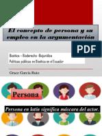 El Concepto de Persona y Su Empleo