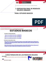 Clase 1 - Estudios Basicos - Residuos Solidos