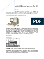 Historia y Evolución Del Sistema Operativo Mac OS