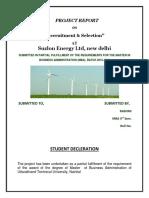 Recruitment & Selection on Suzlon Energy Ltd..docx