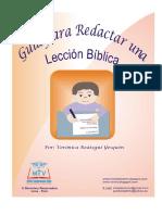 Guía Para Elaborar Una Lección Bíblica