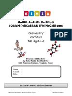 Analisis Bertopik Percubaan Kimia SPM 2016