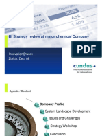BI Strategy Review at Major Chemical Company