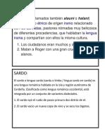 Sociales y Humanidades Ficha de Vocabulario