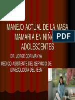 Manejo Actual de La Masa Mamaria en Niñas Nuevo