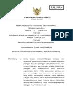 PM 14-2017 Registrasi Pelanggan Jasa Telekomunikasi
