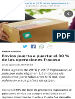 Envíos Puerta a Puerta El 30 % de Las Operaciones Fracasa Puerta a Puerta, Consumo, Aduana, AFIP, Importaciones