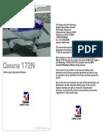 Cessna 172 N Performance Operational Manual