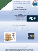procedimiento de analisis para Eliminar el Manejo de Materiales