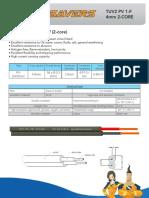 Pv Wire Tuv2 Pv1-f (2-Core)