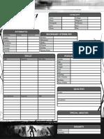 CthulhuTech - Character Sheet - B&W