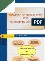 Presentacion Presupuestos 2008