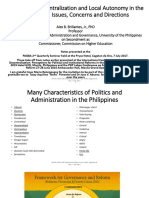 Federalism Decentralization and Local Autonomy in the Philippines Issues Concerns and Directions